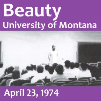 Beauty – University talk in Montana