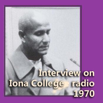 Interview on Iona College radio