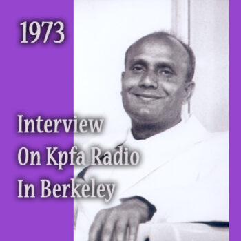 Interview On KPFA Radio in Berkeley, California.