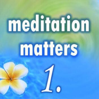 Meditation Matters – Chapter 1