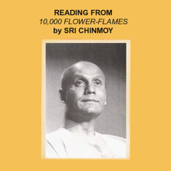 Sri Chinmoy reads from 10,000 Flower-Flames