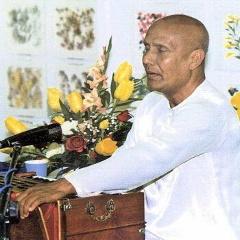 Sri Chinmoy singt seine spirituellen Lieder